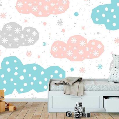 Fotomural Papel Pintado Nubes Colores