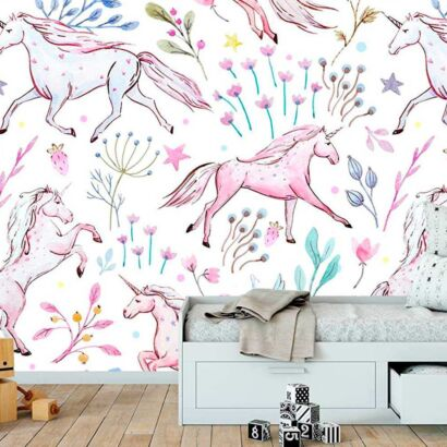 Papel Pintado Unicornios
