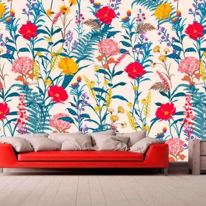 Papel Pintado Vintage Flores