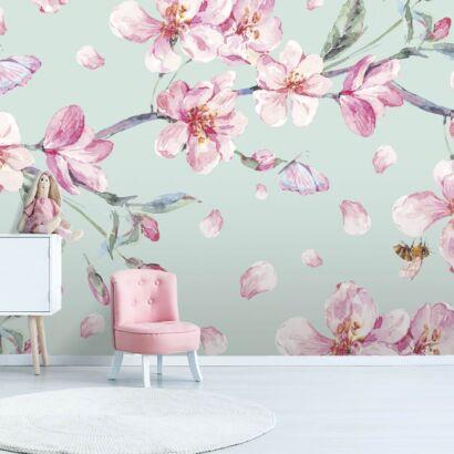 fotomural-petalos-de-flores-dormitorio
