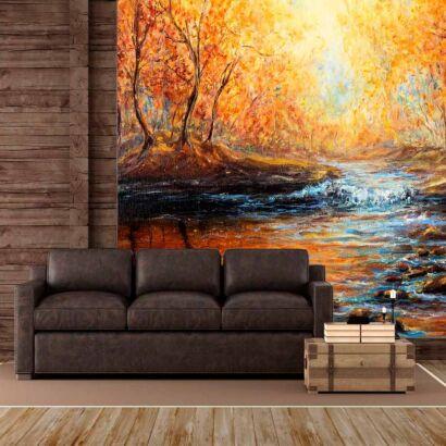 fotomural-rio-bosque-atardecer-fotomural