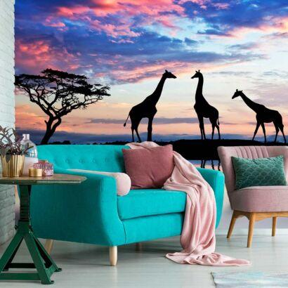 fotomural-sabana-girafas-fotomural