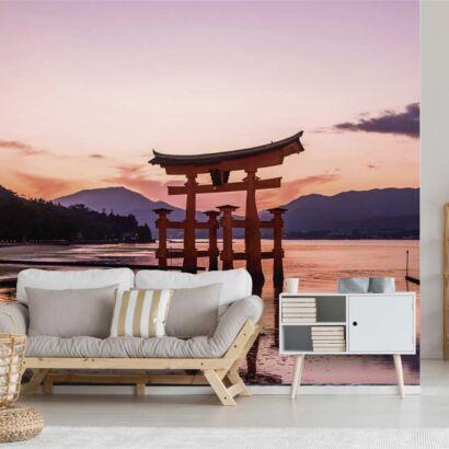 Fotomural Vinilo Amanecer Puerta Torri Japón
