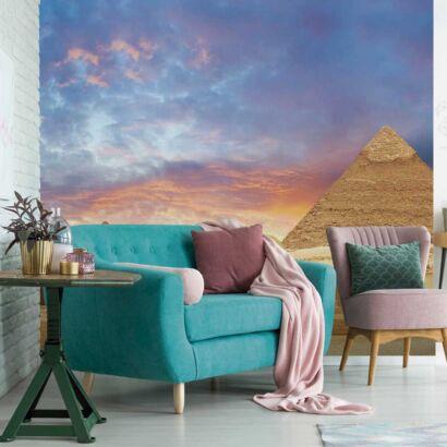 Fotomural Vinilo Atardecer Pirámides Egipto