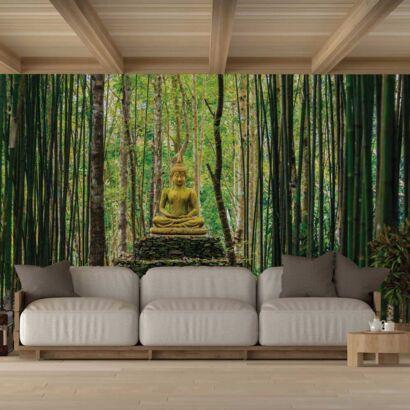 Fotomural Vinilo Buda en Bosque Bambú