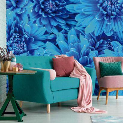 Fotomural Vinilo Crisantemo Azul