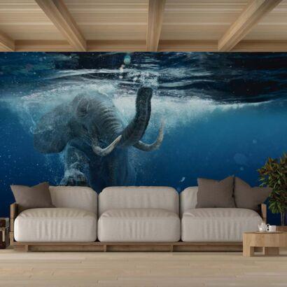 Fotomural Vinilo Elefante en el Mar