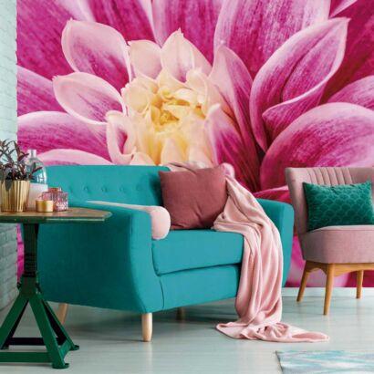 Fotomural Vinilo Floral Dalia Púrpura