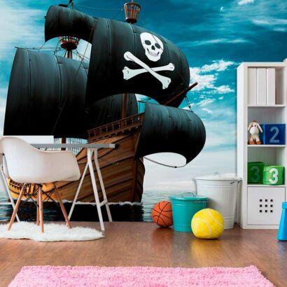Fotomural Vinilo Infantil Barco Pirata Realista
