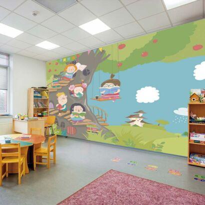 Fotomural Vinilo Infantil Bosque de la Lectura