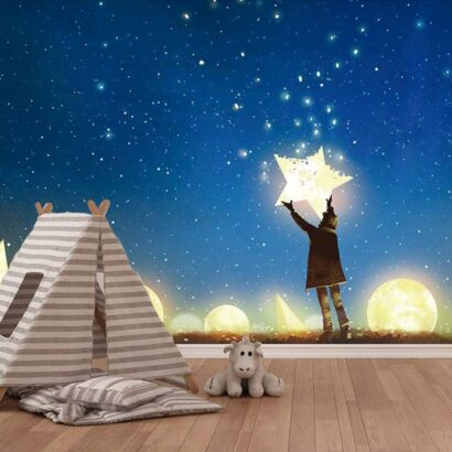 Fotomural Vinilo Infantil Cielo de Estrellas