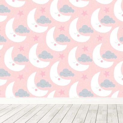 Fotomural Vinilo Infantil Lunas Nubes Durmiendo
