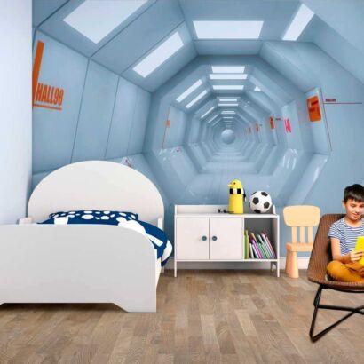 fotomural vinilo infantil pasillo nave espacial