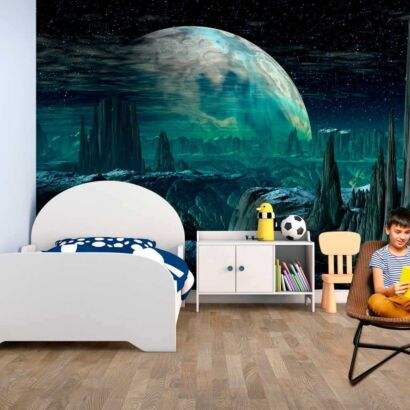 Fotomural Vinilo Infantil Planeta Alien