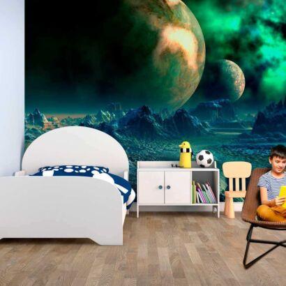 Fotomural Vinilo Infantil Planetas Extraterrestres