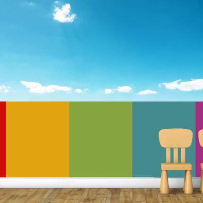 Fotomural Vinilo Infantil Valla Multicolor