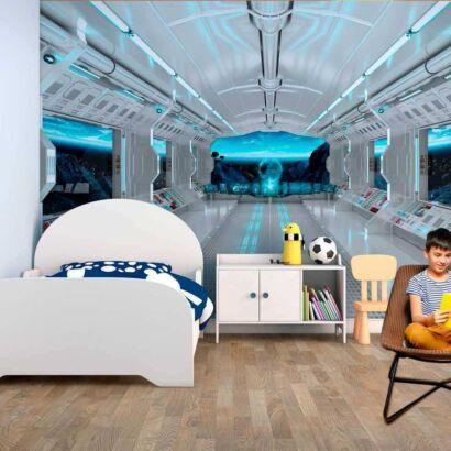 fotomural vinilo interior nave espacial