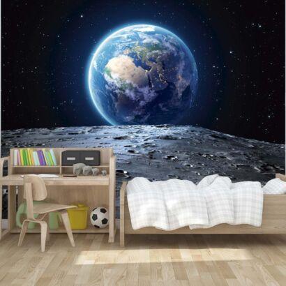 Fotomural Vinilo La Tierra desde la Luna