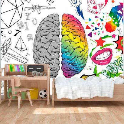 Fotomural Vinilo Infantil Logica Creatividad