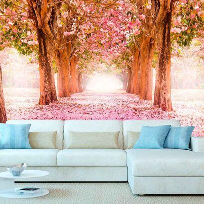 fotomural vinilo paisaje rosas