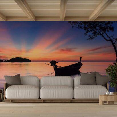 Fotomural Vinilo Playa Atardecer Railay Tailandia