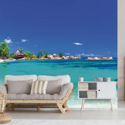 Fotomural Vinilo Playa Tropical Rocosa