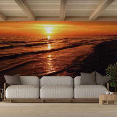 Fotomural Vinilo Puesta de Sol Mar Negro