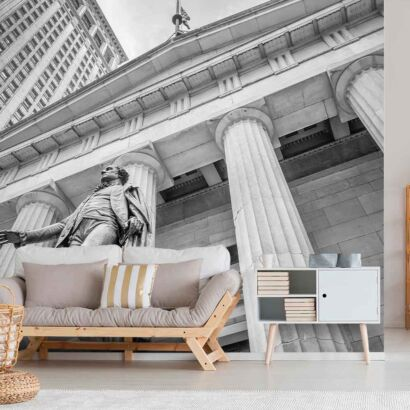 Fotomural Wall Street Blanco y Negro