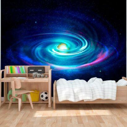 Fotomural Vinilos Galaxia Espiral Azul