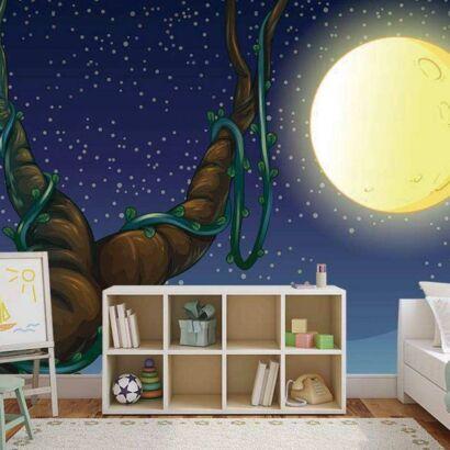 Papel Pintado Luna Dibujo