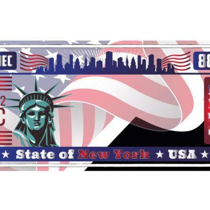 Matrícula Decorativa Americana