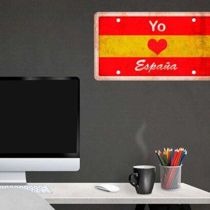 Matrícula Decorativa Amor España