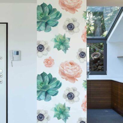 Cenefa Vertical Flores de Acuarela