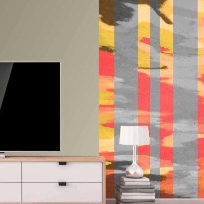 Cenefa Vertical Pared Abstracta