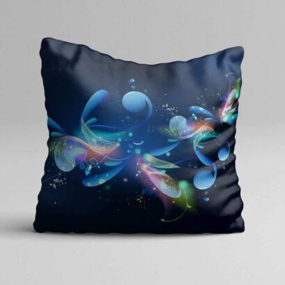 Cojin Arte Abstracto Negro Azul