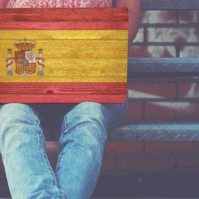 Vinilo Adhesivo Portátil Bandera de España