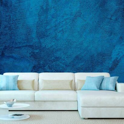 Fotomural Vinilo Textura Cemento Azul