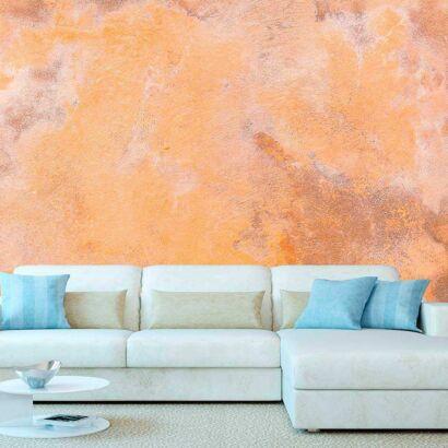 Fotomural Vinilo Textura Cemento Raspado Naranja