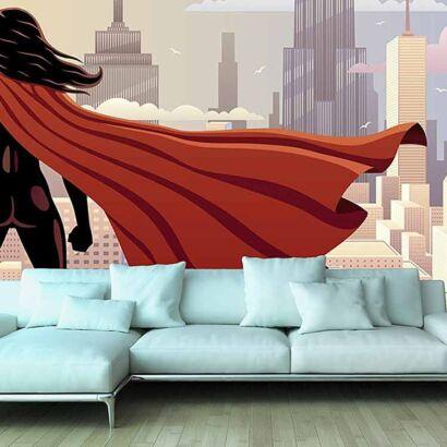 Papel Pintado Mujer Superhéroe