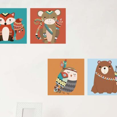 Pack Cuadros Infantiles Animales