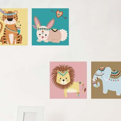 Pack Cuadros Infantiles Animales 2