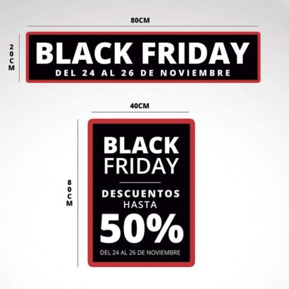 Pack Vinilo Escaparate Black Friday