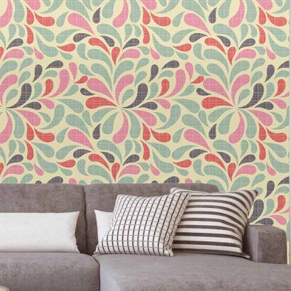 Papel Pintado Arte Floral Abstracto