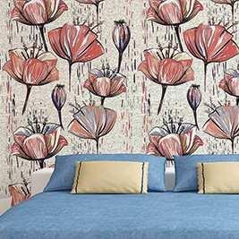 Papel pintado Flores