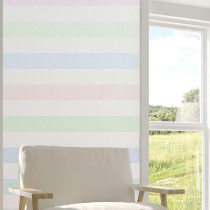 Cenefa Vertical Papel Pintado Franjas Multicolor