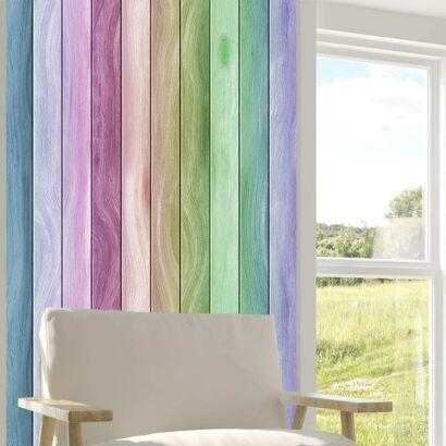 Cenefa Vertical Papel Pintado Madera Multicolor