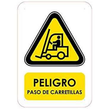 Señaletica Peligro Paso de Carretillas