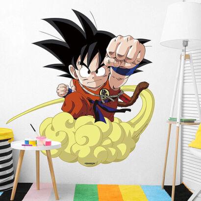 Pegatina pared Dragon Ball Classic Goku Nube Kinton
