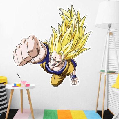 Pegatina pared Dragon Ball Z Goku Super Saiyan