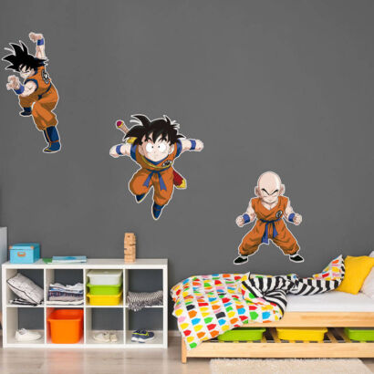 Pegatina pared Dragon Ball Classic Goku Krilin y Gohan